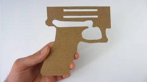 纸板手工制作自动手枪wgog927 (12)