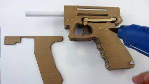 纸板手工制作自动手枪wgog927 (2)