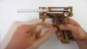 纸板手工制作自动手枪wgog927 (5)