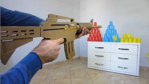 如何用纸板制作一把m4冲锋枪 (10)