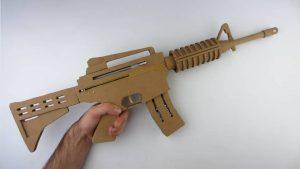 如何用纸板制作一把m4冲锋枪 (11)