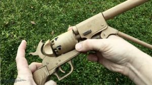 纸板枪图纸下载如何用纸板制作柯尔特转轮纸板玩具手枪wgog944-完美细节 (9)
