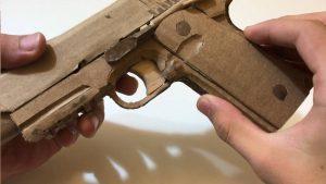 用纸板制作玩具手枪 (2)