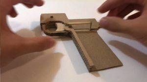用纸板制作玩具手枪 (9)